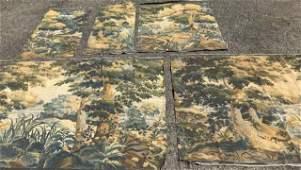 Belgian / Flemish Style Tapestry Fabric Panels