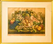 Antique Currier & Ives American Fruits Lithograph