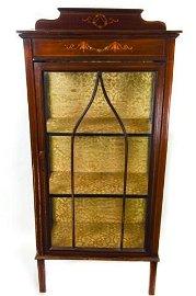 Antique 19th C English Adam Style Curio Cabinet