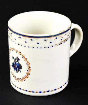 Antique 18th C Chinese Export Porcelain Coffee Cup