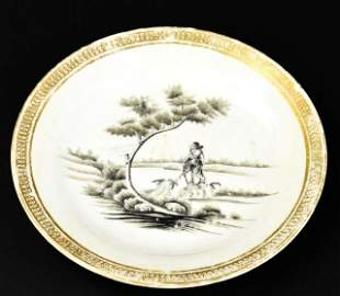 Antique 18th C Chinese Porcelain Plate