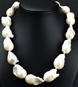 Impressive Cultured Baroque Pearl Necklace Strand