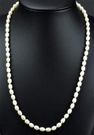 Estate Italian 14kt Gold & Baroque Pearl Necklace