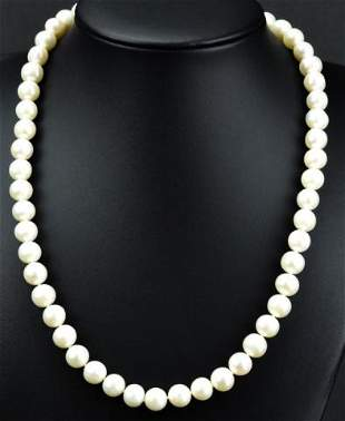 Estate 14kt Yellow Gold & Baroque Pearl Necklace
