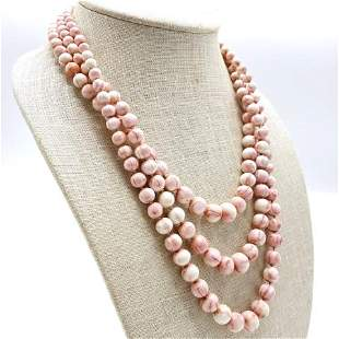 Vintage 14k Gold and Coral Necklace