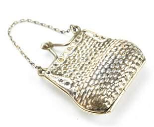 Vintage Sterling Purse Locket Necklace Pendant