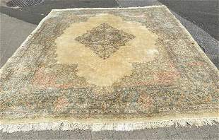 Imperial Kerman 100% Wool Woven Persian Carpet