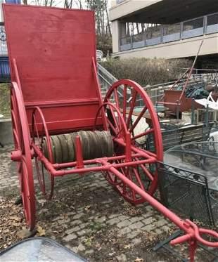 19th C. Antique Firemen's Hose Cart