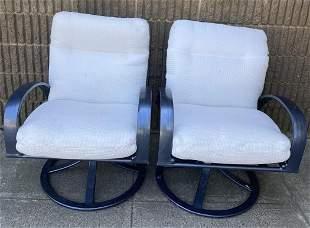 Pair Brown Jordan Outdoor Swivel Rocker Chairs