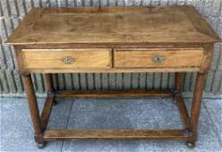 Antique Empire Style Console Table W Turned Feet
