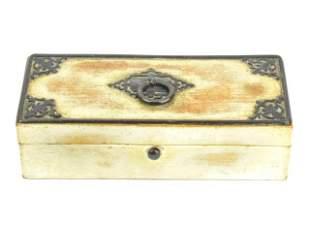 Antique Early 19th C Georgian Era Jewelry Box