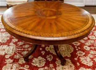 Antique Georgian Marquetry Circular Dining Table