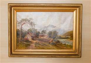 John H Cole Oil Painting English Country Landscape