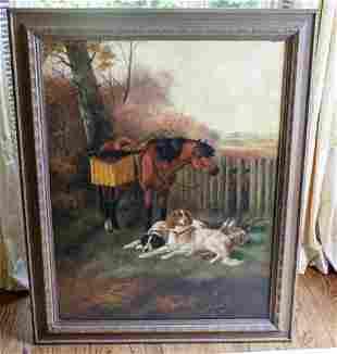 John Gifford English Oil Painting Keeper's Pony