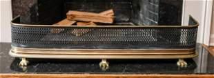 Pierced Brass Fireplace Fender