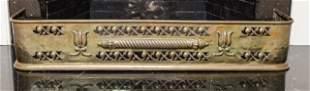 Arts & Crafts Style Antique Brass Fireplace Fender