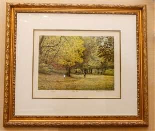 "Harold Altman Framed Lithograph ""Fall 1988"""