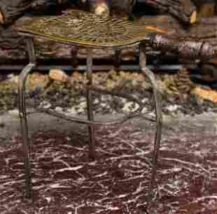 Antique Brass & Wrought Fireplace Trivet