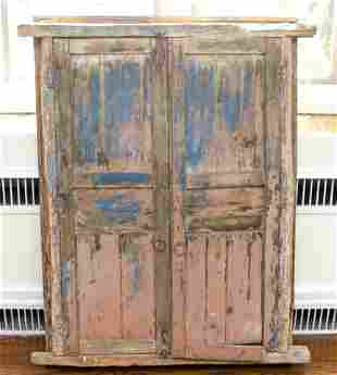 Antique Architectural Salvage Iron Wood Window