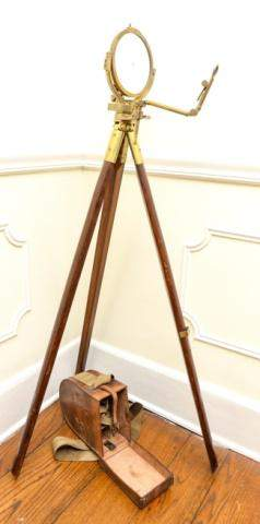 Antique Military Heliograph Tripod Instrument