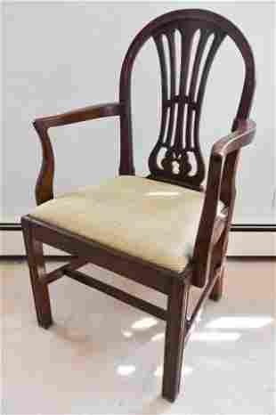 Antique English Georgian Style Armchair