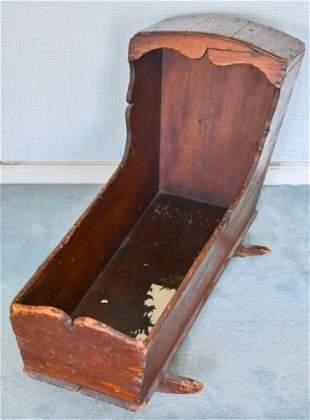 Antique 19th C American Pine Cradle