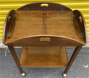 Mahogany Butlers Table / Tray On Casters