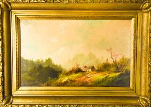 George Frederick Bensell 19th C. Oil Painting