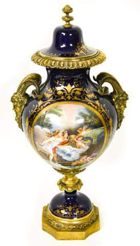 19th Century French T. Quentin Sevres Style Urn