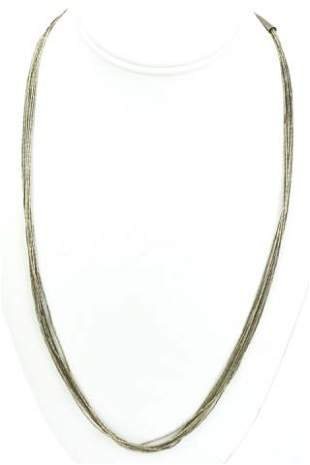 Sterling Native American Liquid Silver Necklace