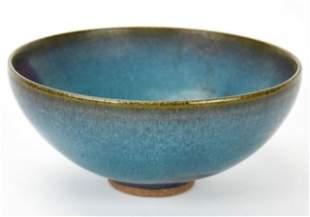 Chinese Flambe Glaze Pottery Bowl