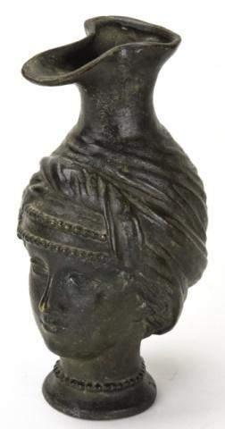 Byzantine Style Figural Bust Bronze Ewer