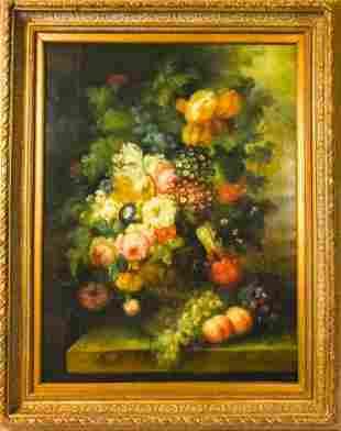 Framed Louis Kuperman Still Life Floral Oil