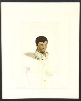"Liliana Port Intaglio Print ""Elvis Sewing Lesson"""