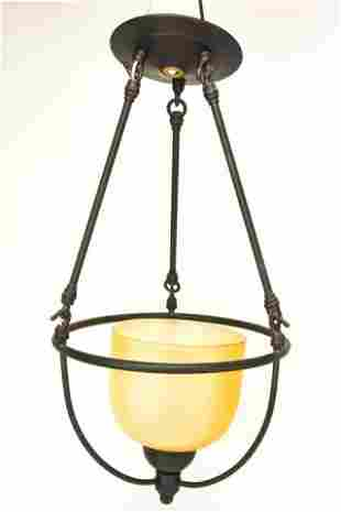 Contemporary Bronze Tone Pendant Light Fixture