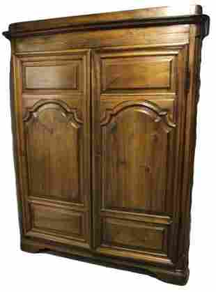 Antique Pine Carved Armoire / Wardrobe