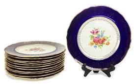 Set 12 Steubenville China Dinner Plates