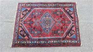Turkish Hand Woven Geometric Wool Prayer Rug