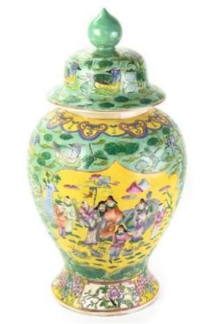 Antique Chinese Export Famille Verte Ginger Jar
