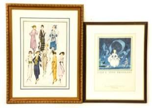 Vintage French Print & McCall's Fashion Print