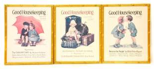 3 Framed American Good Housekeeping Lithographs