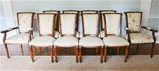$8,900 French Style Custom Made Dining Chairs