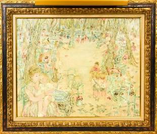 "Jocelyne Seguin (1921 - 1999) ""Le Square"" Painting"