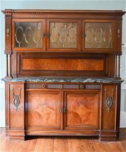 Antique 19th C Renaissance Revival Cupboard Buffet