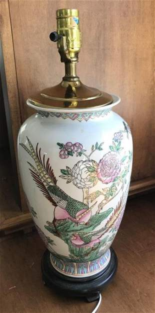 Hand Painted Chinese Porcelain Table Lamp