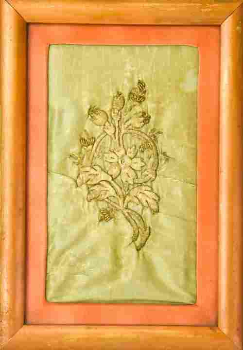 Antique Anatolian Framed Asian Embroidery