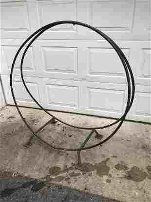 Wrought Iron Outdoor Fireplace Wood Holder
