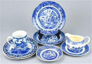 Royal Delft & Blue Willow Table Items