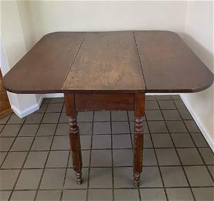 American Empire Drop Leaf Dining Table