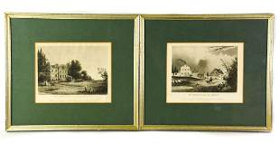 Two Framed 19th C. Battle Ground Engravings